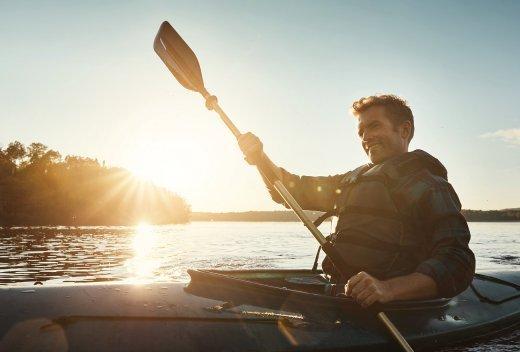 Kanu fahren und padden auf der Limmat