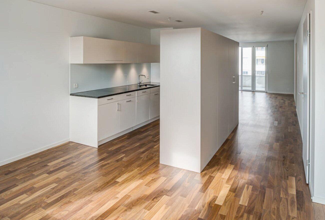Hochwertige Küche in Lindenhof Wohnung