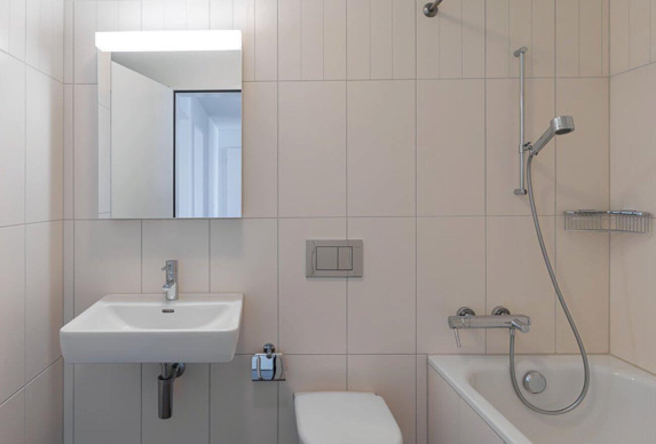 Bad in Lindenhof Wohnung